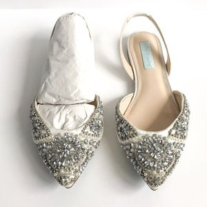 "62d44d1ce79d8 Betsey Johnson Shoes - Betsey Johnson ""Molly"" Slingback Satin Flats"